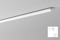 Карниз(плинтус) потолочный гладкий NMC , ST 2  , лепной декор из пенопласта