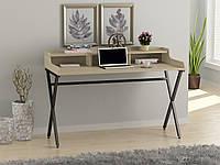 Письмовий стіл для дому та офісу L-10 Loft Design Чорний Матовий / Дуб Борас