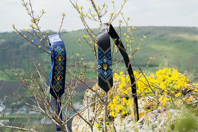 Мужские атласные галстуки с вышивкой
