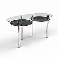 """Кухонный фигурный стол из стекла """"Лукас"""""""