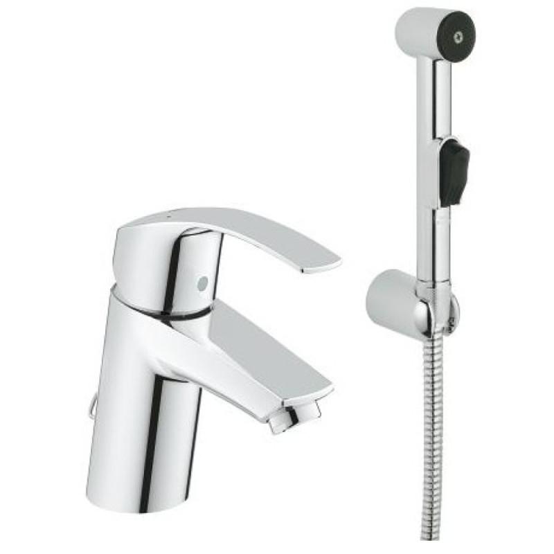 Однорычажный смеситель для умывальника из латуни с душем Grohe Eurosmart 23124002