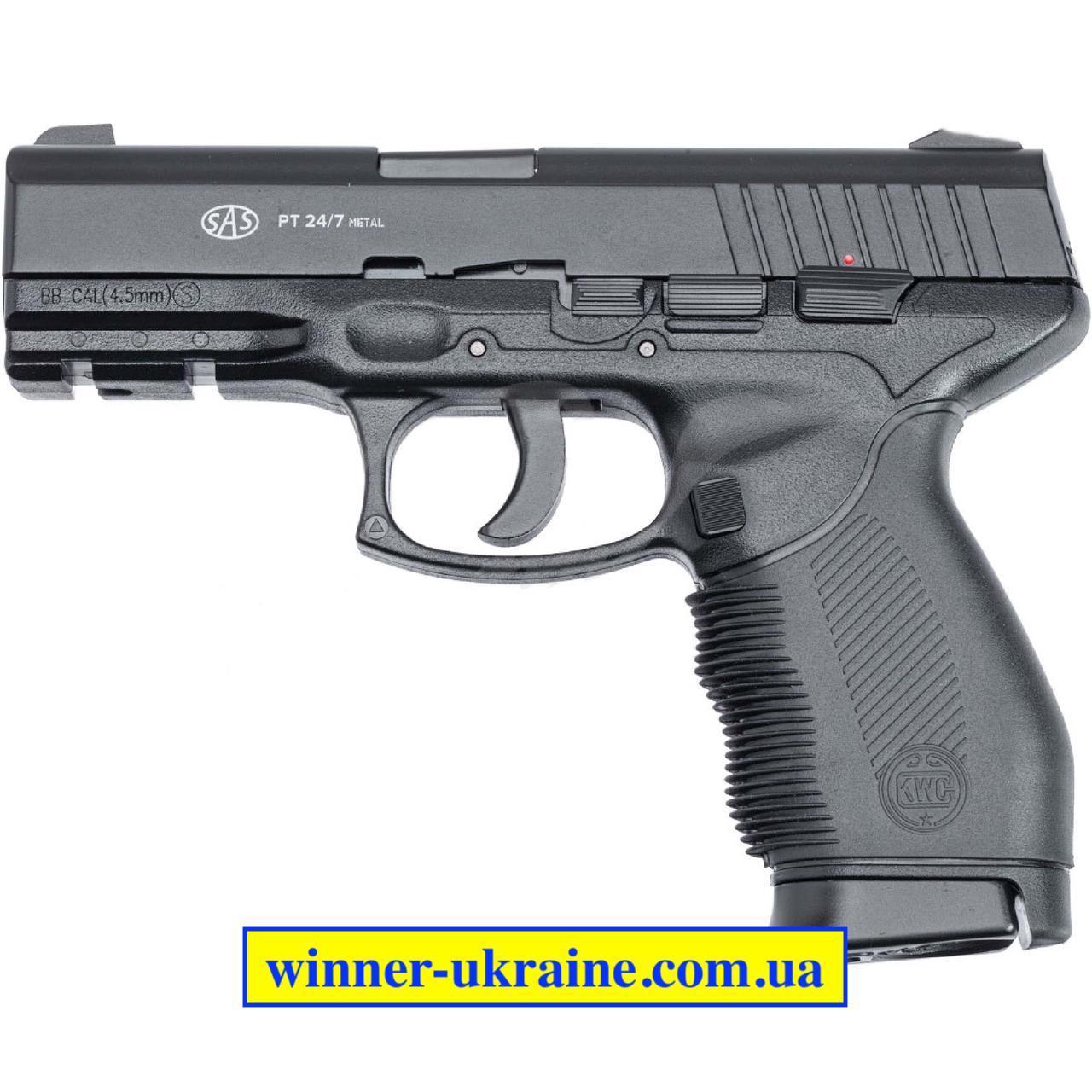 Пневматичний пістолет SAS PT 24/7 metal
