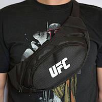 🎒Поясная сумка, Бананка, барсетка юфс, UFC. Черная|бананка мужская, поясная сумка, сумка барыжка, бананка черная, бананка юфс, бананка ufc