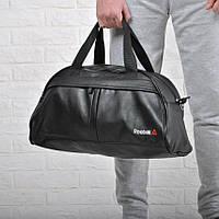 b040fd82 🎒Фитнес-сумка рибок, Reebok для тренировок. Черная. Кожзам|спортивная сумка