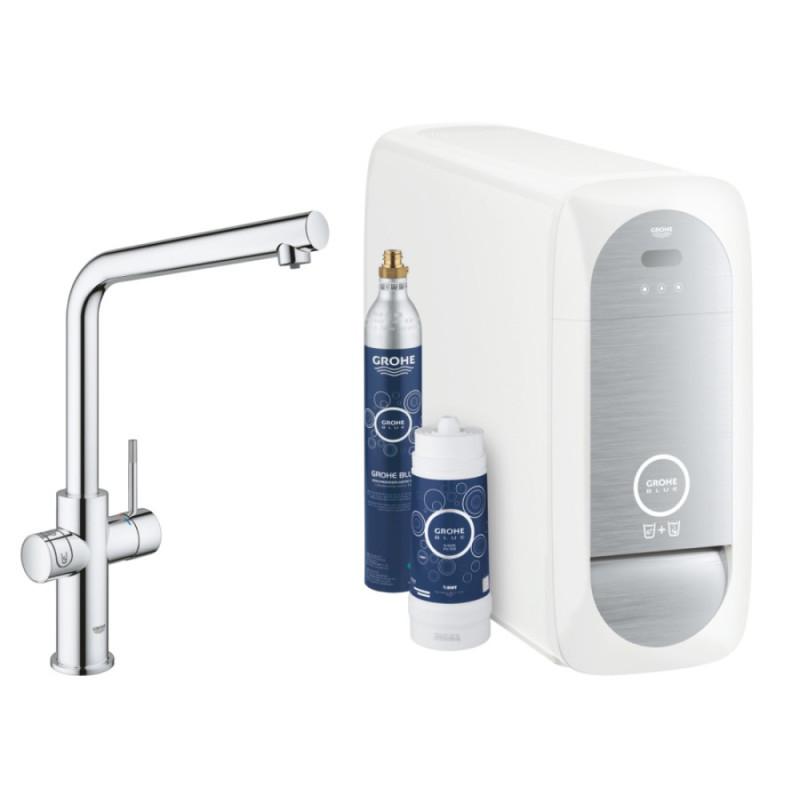 Смеситель для кухни (система очистки+газ. вода) Grohe Blue Home