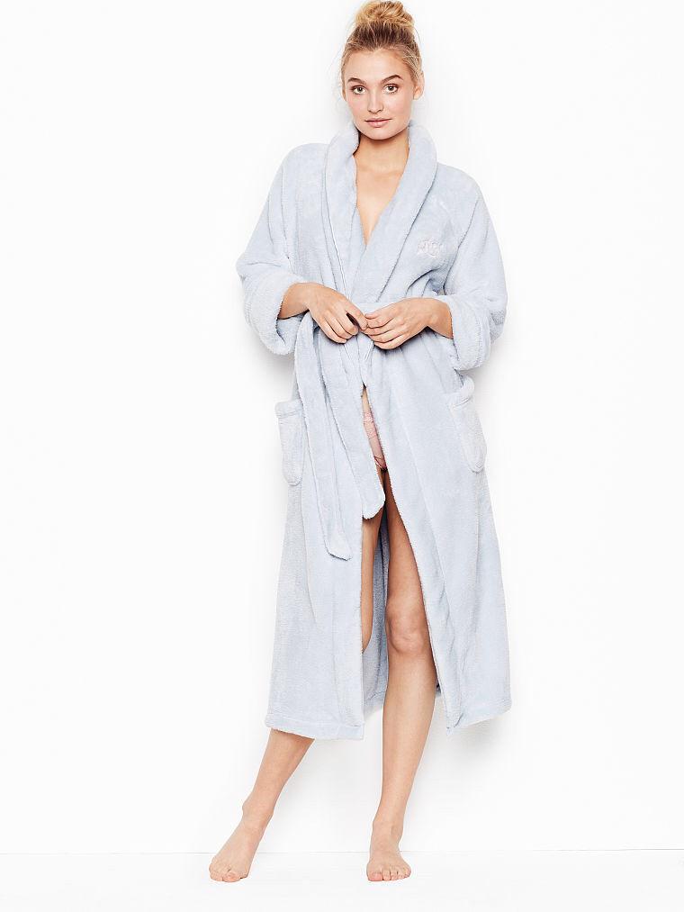 06ce4170b0aea Длинный плюшевый халат COZY PLUSH ОТ VICTORIA'S SECRET - FLINT GREY Victoria's  Secret