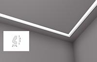 Карниз(плинтус) потолочный гладкий NMC , O  , лепной декор из пенопласта