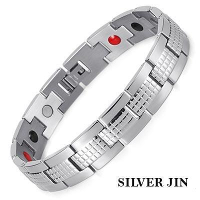 Магнитный браслет Серебрнный Джин