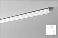 Карниз(плинтус) потолочный гладкий NMC , M 2  , лепной декор из пенопласта