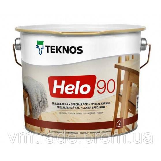 Лак уретано-алкидный для дерева Текнос Хело 90 (Teknos Helo 90) 9 л