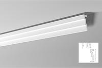 Карниз(плинтус) потолочный гладкий NMC , M 1  , лепной декор из пенопласта