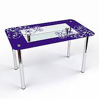 """Кухонний стіл зі скла """"Маки S2"""""""