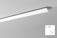 Карниз(плинтус) потолочный гладкий NMC , J  , лепной декор из пенопласта