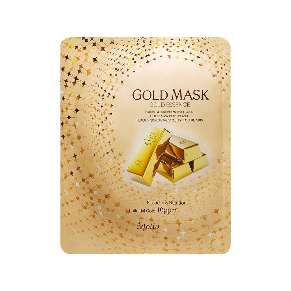 Маска тканевая для лица Esfolio с золотом 23 мл