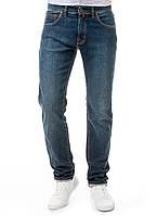 Мужские оригинальные джинсы с потертостями Pierre Cardin слегка зауженные