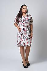 Женское повседневное красивое летнее платье большого размера, фото 3