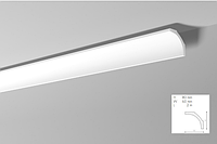 Карниз(плинтус) потолочный гладкий  NMC, B 1  , лепной декор из пенопласта