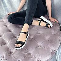 Стильные женские босоножки черные, фото 1