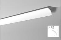 Карниз(плинтус) потолочный гладкий NMC , B 8  , лепной декор из пенопласта
