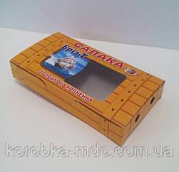 Коробка с окошком под рыбу копченую 200гр