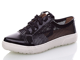 Стильные туфли летние Girnaive женские черные сетка