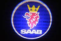 Подсветка дверей авто / лазерная проeкция логотипа SAAB | СААБ