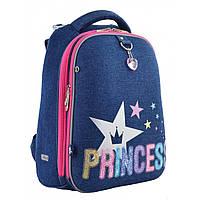 """Рюкзак школьный каркасный ортопедический для девочки Н-12 """"Princess"""", фото 1"""