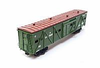 4х осный вагон для перевозки животных, принадлежность СЖД, H0,1/87, фото 1