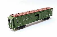 4х осный вагон для перевозки животных  переходной площадкой, принадлежность СЖД, H0,1/87, фото 1