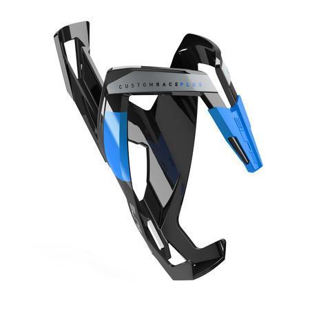 Фляготримач Elite CUSTOM RACE PLUS скловолокно чорний/синій
