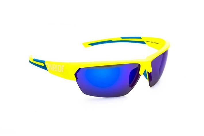 Окуляри ONRIDE Spok жовтий/блакитний з лінзами BlueREVO/Clear/Orange, фото 2