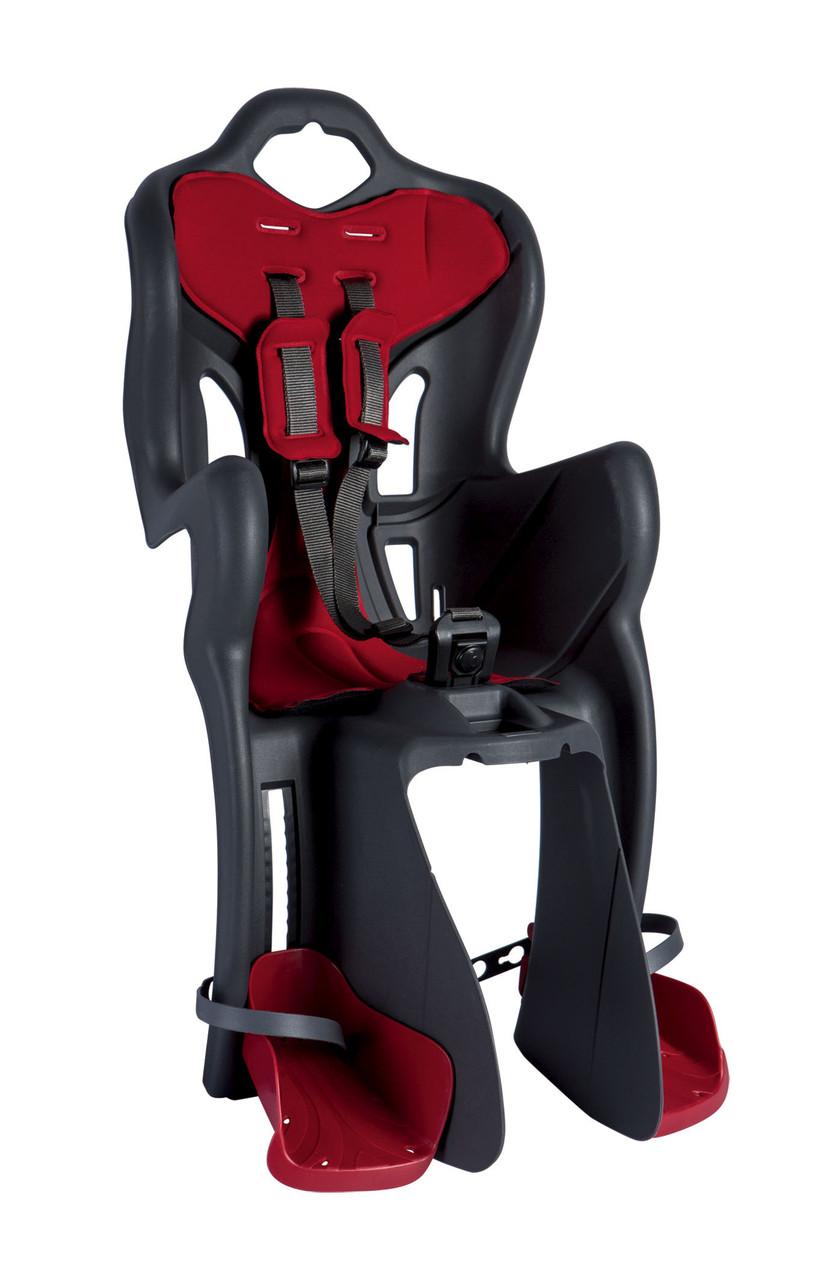 Сидіння дитяче Bellelli B-One Clamp на багажник сірий/червоний