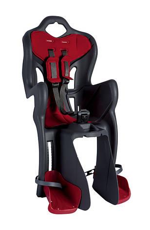 Сидіння дитяче Bellelli B-One Clamp на багажник сірий/червоний, фото 2