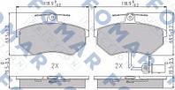 Гальмівні колодки передні VW Passat B5, Audi A4