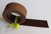 Полосы из кожи растительного дубления с покрытием коричневого цвета, толщина 3.0 мм, арт. СКУ 9002.1711
