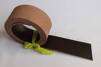 Полосы из кожи растительного дубления с покрытием темно коричневого цвета, толщина 3.0 мм, арт. СКУ 9002.1712
