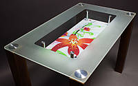 """Яркий кухонный стол из стекла """"МФ-1"""""""