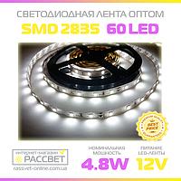 Светодиодная лента 12В оптом 60 LED/м SMD2835 IP20 (для подсветки) 4,8 Вт/м