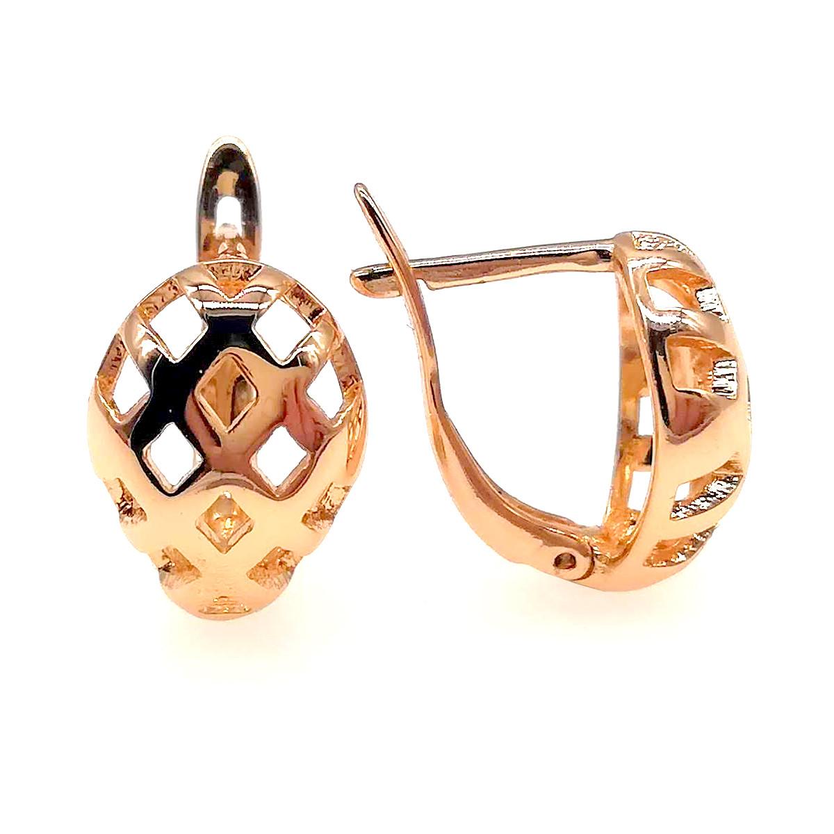 Сережки Xuping з медичного золота, в позолоті, ХР00292 (1)