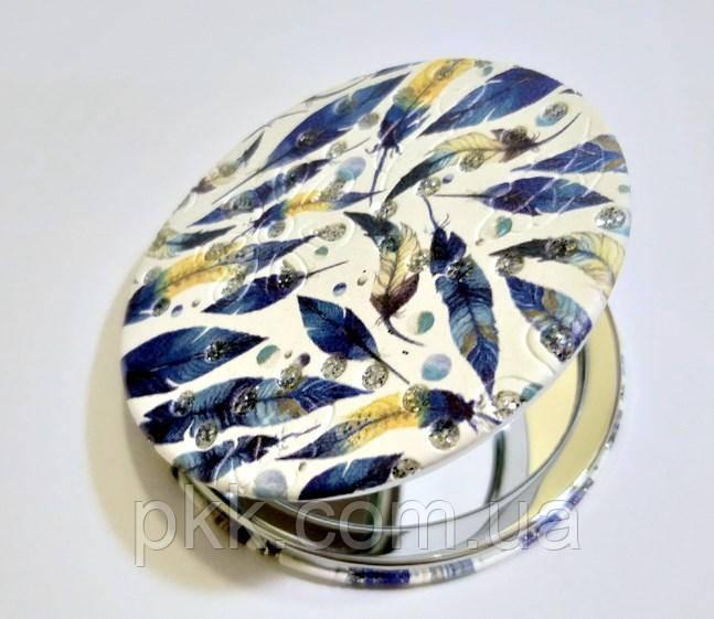 Зеркало косметическое La Rosa карманное двойное круглое LMR-3353
