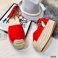 Босоножки на плетеной подошве легкие и удобные