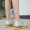 Кроссовки женские с сеточкой желто-серого цвета Размер 37,38 (маломиркы), фото 2