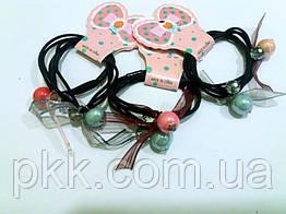 Резинка для волос тройная с двумя шарами RK-13-25Е (2шт)