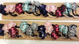 Резинка для волос с цветком hand made (20 шт)