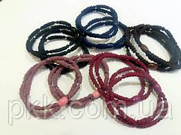 Резинка для волос двойная цветная RK-05-100E (5шт)