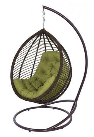 """Удобное подвесное кресло """"КИТ"""" (коричневый+хаки)"""