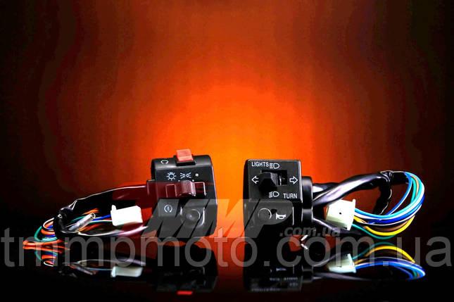 Перемикачі керма Minsk-SONIK 125/150 (лівий+правий) чорні, фото 2