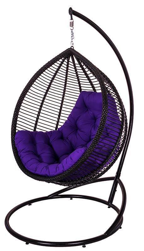 """Подвесное кресло """"КИТ"""" (шоколад + фуксия)"""