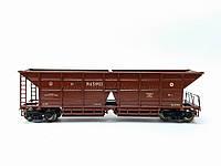 4-осный вагон-хоппер для охлажденного кокса модель 22-4018 (с гладким бортам ), СЖД, H0,1/87, фото 1