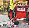 Женские розовые кроссовки на силиконовой подошве с голографическими вставками 37,38,39 (маломиркы), фото 2
